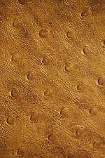 "Marine Vinyl Fabric Auto Gold Bronze Ostrich Emu Outdoor Boat Upholstery 54"""
