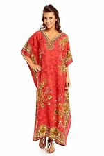 Boho Hippy Floral Cotton Kaftan Plus Size Women Shirt Beach Coverup Women Caftan