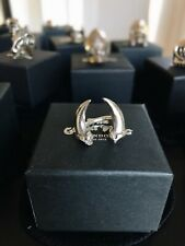 NOT THE GREAT FROG LONDON TOOTH TEETH SILVER RING SZ 6.5 EU53 RARE