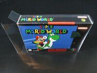 10 x SNES Schutzhüllen N64 Hüllen 0,3mm OVP CIB Für Super Nintendo & Nintendo 64