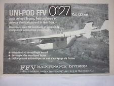 3/1982 PUB FFV MAINTENANCE SWEDEN UNI POD FFV 0127 CAL 12.7 MM CESSNA FRENCH AD
