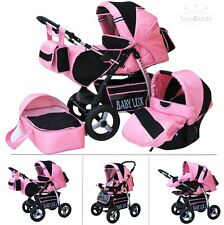 King mit Babyschale * KOMBI KINDERWAGEN * Lux4Kids *  Zuckerwatte & Cosmic Black