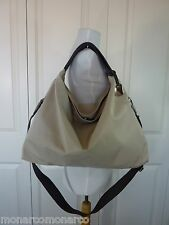 NWT Furla Beige/Clay Exclusive Coated Fabric and Leather Elisabeth Tote Bag $348