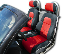 AUDI TT BLACK/RED IGGEE S.LEATHER CUSTOM FIT FRONT SEAT COVER