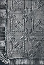 Vintage Crochet PATTERN to make Popcorn Bedspread Motif Block PopcornSquare