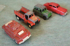 TOOTSIE TOYS: METAL  &    PLASTIC SET OF 4 VEHICLES   MADE IN THE USA!