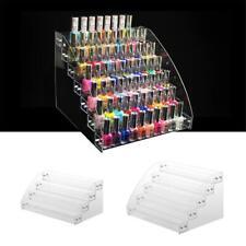 Clear Acrylic Nail Polish Lipstick Display Stand Cosmetic Makeup Organizer UK
