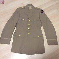 WWII US Army Air Corps Air Force Officer's Khaki Service Jacket Wool Major