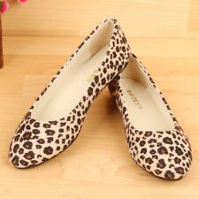 Women Classics Loafers Suede Leopard Slip-On Flats shoes Lazy shoe Peas TOM Boat