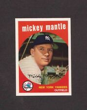 1996 Topps Sweepstakes MICKEY MANTLE #9 of 19 1959 Topps Reprint Contest CARD