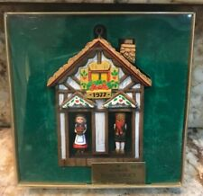 Vtg Hallmark Twirl-About Christmas Ornament 1977 Tree Trimmer Collection House