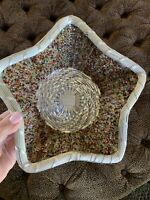 Beautiful Glass Beads Basket Star Shape Metal