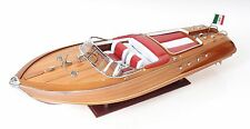 "Riva Aquarama Exclusive Edition Speed Boat 35"" Wood Model Ship Assembled"