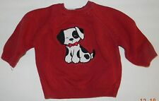 KOALA KIDS boys Red PUPPY DOG Cotton SWEATER* 12 months