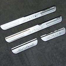 4x Battitacco cromato protezione porta acciaio batti tacco auto Honda Civic