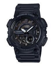Casio Sports Men's Black Wristwatch with 46mm Case - AEQ110W-1BV
