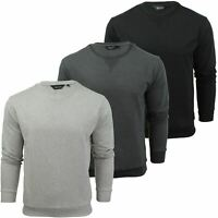 Mens Crew Neck Sweatshirt Jumper by Xact Long Sleeved