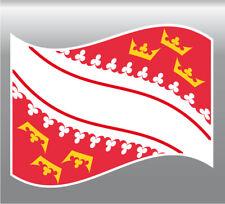 2x  sticker drapeaux ALSACE 8X10cm  vinyle autocollant Flag région Alsace
