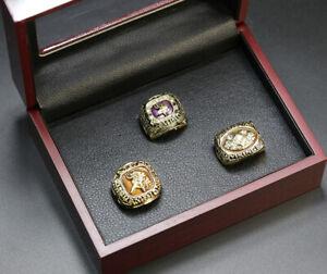 3 Ring Set Minnesota Vikings Ring Vikings Championship Ring Set Display Box