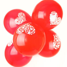50 X 12 inch Printed - Hearts Latex Balloons Valentine's Day Red