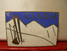 INSIGNE ANCIEN SKI EMAILLE C.I.A.S.H