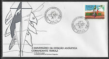 BRAZIL 1986 ANTARCTIC BASE FLAGS  1v FIRST DAY COVER