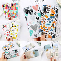 For iPhone X 6 7 8 Plus Cover Silicone Rubber Shockproof Patterned Case Cover