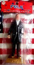 """James K.Polk VINTAGE MARX US Presidents #11 HP plastic figure 2.75"""" NIP"""