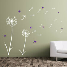 Dandelion Floral Decal Wall Stickers Decor Flowers New Art Removable Room A360
