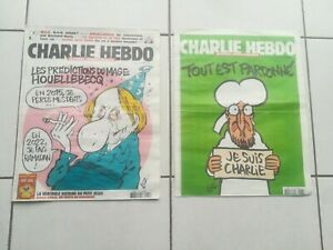 CHARLIE HEBDO N°1177 + N°1178 DAY OF THE ATTACK 2015 COLLECTOR FRENCH MAG