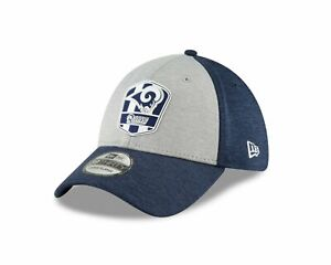 Los Angeles Rams New Era Blue Gray NFL Sideline Official Road 39THIRTY Flex Hat
