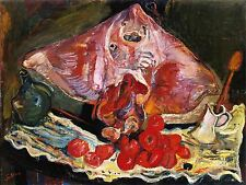 CHAIM SOUTINE STILL LIFE WITH RAY FISH ART PRINT POSTER PICTURE LF237