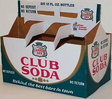 Vintage soda pop bottle carton CANADA DRY CLUB SODA unused new old stock n-mint+