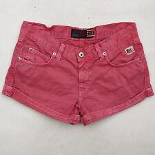 "Roy Roger's Ladies ""amona"" Rosa Denim Jeans Sexy Shorts Fit 14 anni UK 10 SUPER"