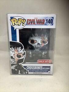 Pop Funko Crossbones Battle Damage Marvel Civil War Target Exclusive Figure 140