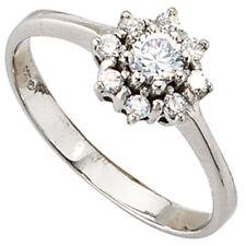 Eleganter Ring Damenring mit Zirkonia, 925 Silber Sterlingsilber Damen