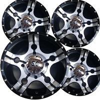 "4) 14"" ATV Rims Wheels for Honda Pioneer 1000 Models 14x7 4/137 5+2 5-Star Machi"