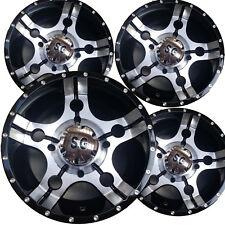 "4) 14"" ATV Rims Wheels most Can-AM Maverick Models 14x7 4/137 5+2 5-Star Machin"