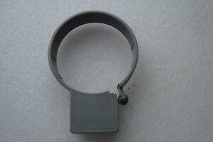 "2 x Soil Stack Plastic Pipe Bracket 82mm Grey Pipe clips 3 "" Poly Hunter"