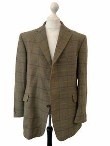 BLADEN OROIGINAL Green Wool Tartan Check Single Breasted Blazer 46R