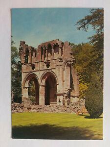 Dryburgh Abbey, Berwickshire Vintage colour Postcard c1970s North Transept