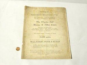1923 Original Auction Catalogue Wharton Hall Murton & Hilton Estates Cumbria