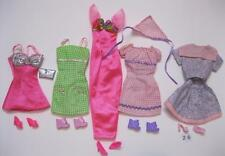 5 COMPLETE Barbie Fashion Doll Basics Outfit Ensemble with Matching Shoes Lot 26