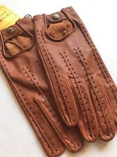 Fownes Rolls Racer Deerskin Leather Driving Gloves Saddle XL Vintage Tags