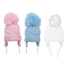 Baby Winter Warm Large Pom Pom Hat 6-18 Months Cable Knit Toddler Knitted Beanie
