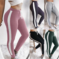 NEW Womens Ladies Soft Cotton Track Pants Jogging Casual Sports Workout Trousers