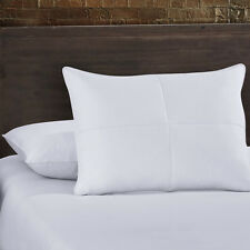 Set of 2 Goose Feather and White Down Bed Pillow Cotton Cover- Standard OR King