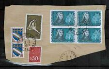 1973 -St.Thérèse - Bloc de 4 Timbres + Fragment + Oblitéré+Used - Yt.1737 -OB.36