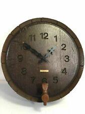 Westclox Nocord Vintage Barrel Spout Spigot Design Wall Clock Model 46621