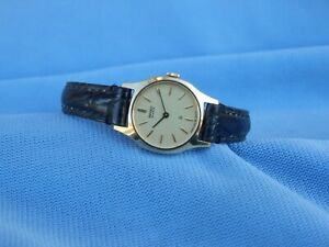 Seiko Quartz Woman 1400 Rarest Gold Plated 14K Vintage 1980